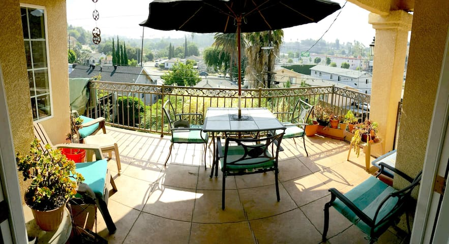 There it is, that view, that deck, that balcony. Nuff Said...