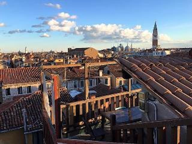 The best view of Venice from our roof top terrace - Altana Albachiara