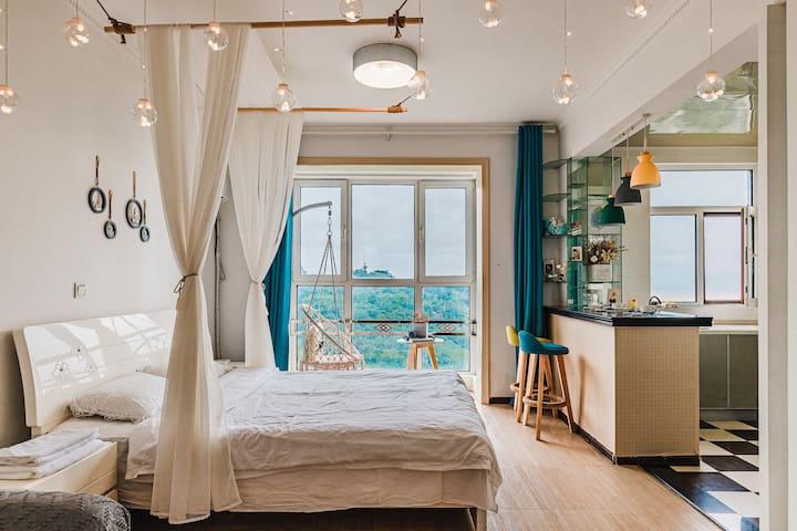 米舍2号 180度海景房 落地窗看海 近连岛 花果山 云台山 渔湾等