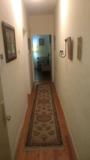 Entry way to the apartment