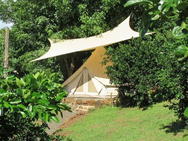Hostel Alouatta - 2 person private tent oceanview