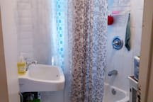 Bathroom is shared with host.