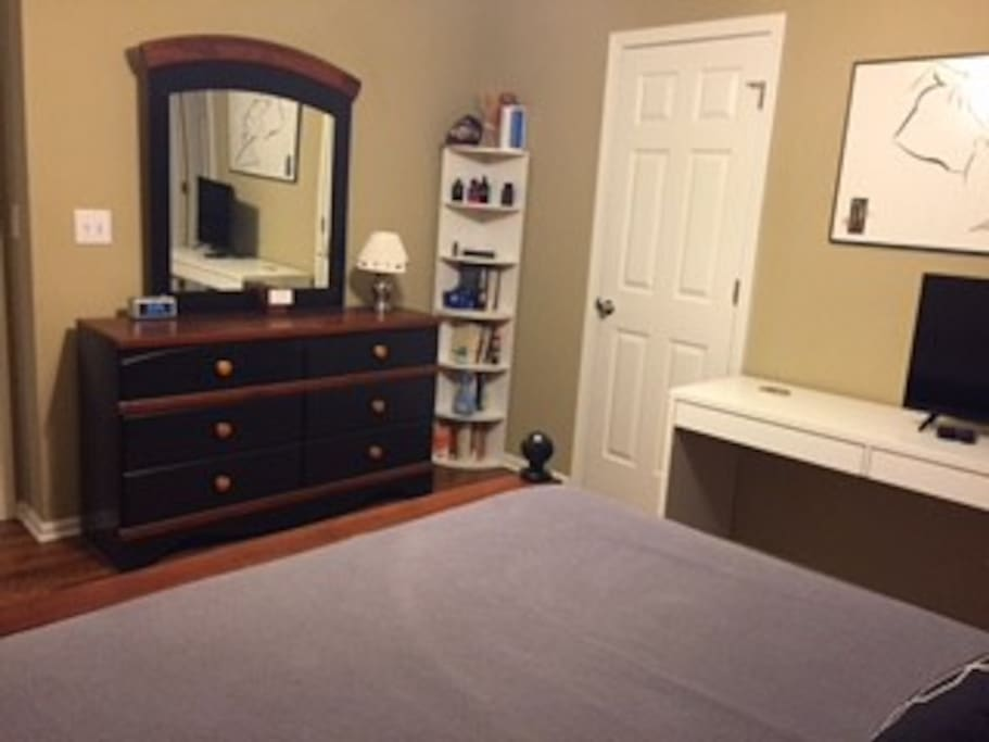 Bedroom - the closed door pictured leads to a jack-n-jill bathroom. Plenty of drawer space.