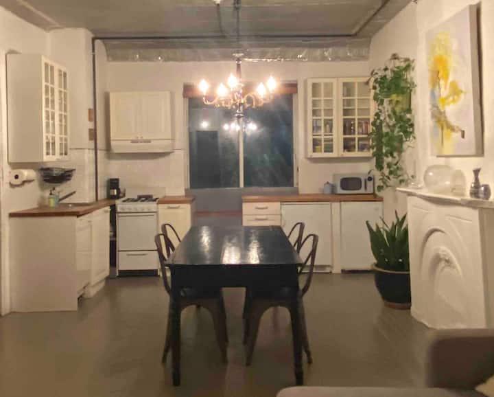 Charming brownstone apartment