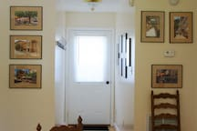 View of hallway to deck
