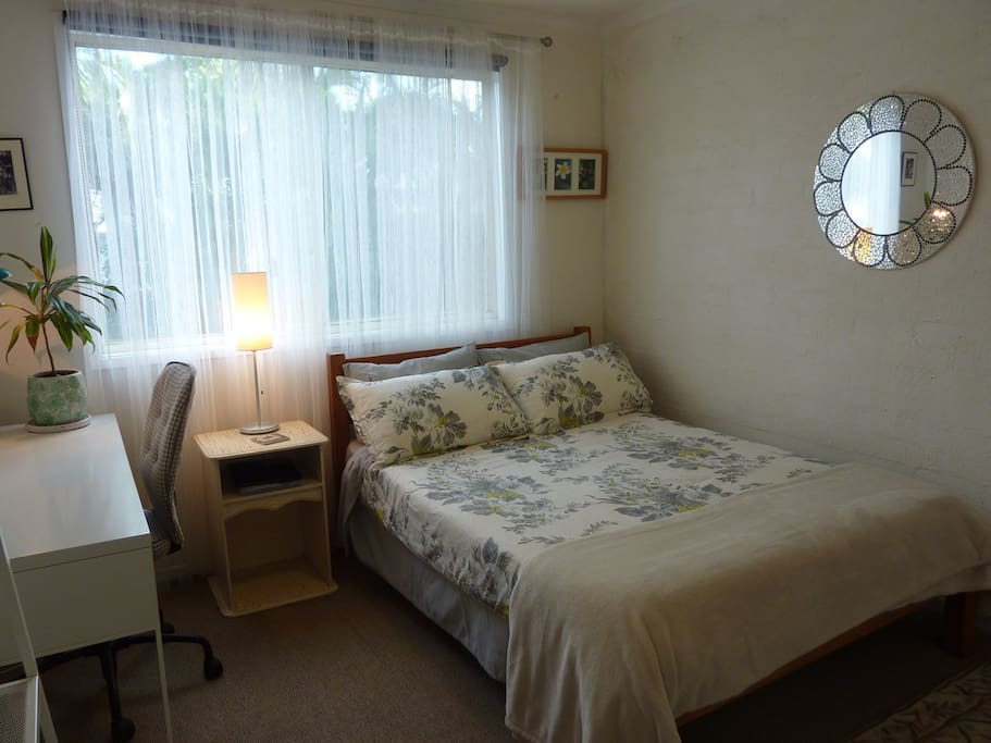 Your room -Double bed, desk and built in wardrobe