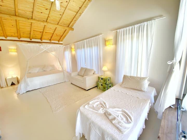 Casa simples e aconchegante na Praia do Espelho