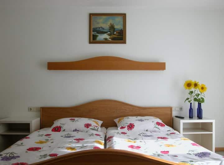 Pension Holzapfel (Essing), Doppelzimmer mit Terrasse, 16qm