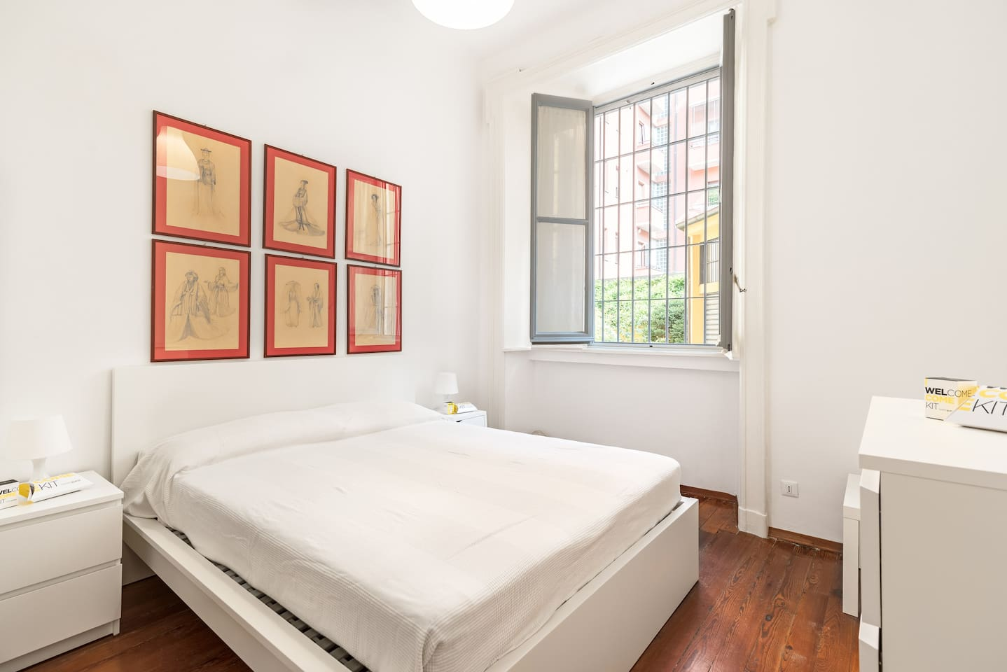 The second Bedroom with the comfortable double bed & The bright window