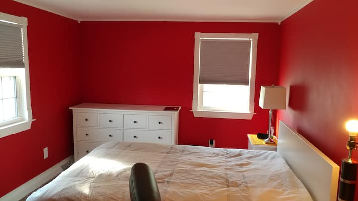 Quiet Red Room in Milford
