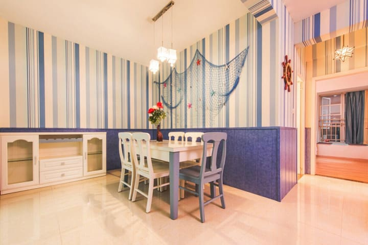 【地铁旁·新房】温馨两居地中海小屋 - Chengdu - Lägenhet