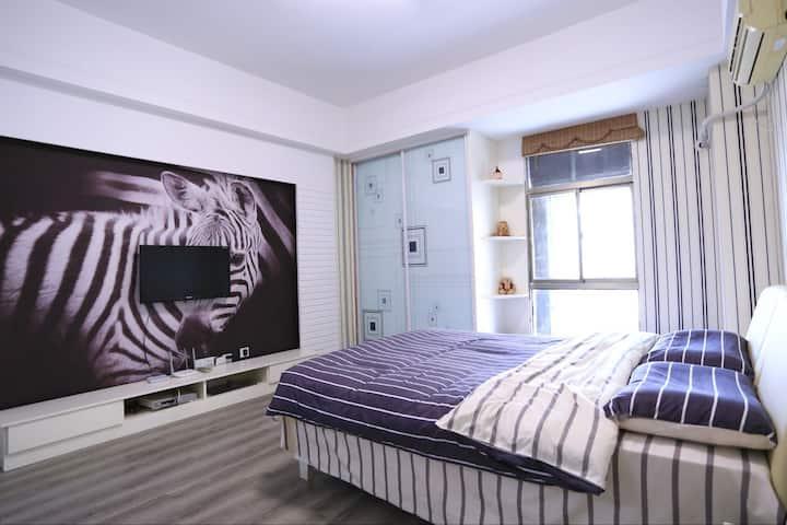 【斑马】万达公寓/开发票/金鹰 新亚 花漾城 美食街/温馨舒适一居室