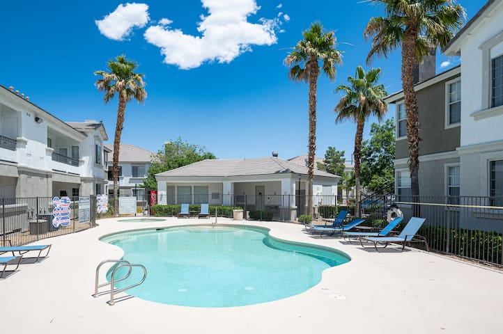 Large Private Condo 15 Minutes From Strip w/ Pool