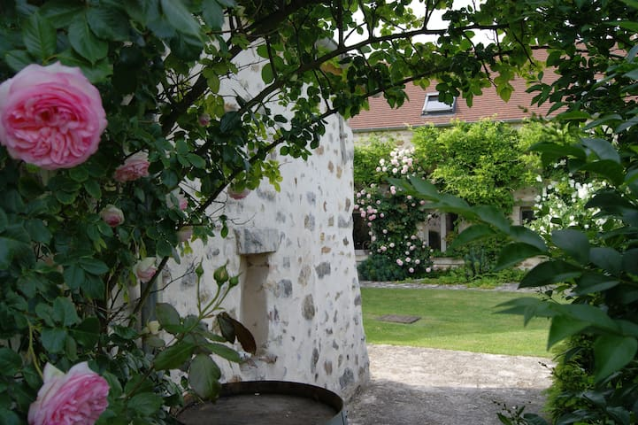 Chambre & jardin 8mn A1 pres Senlis Crepy Asterix - Fresnoy-le-Luat - Bed & Breakfast