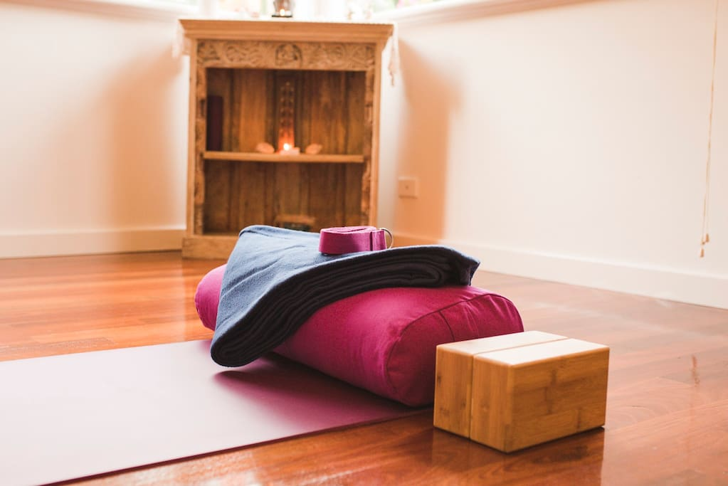 Good quality yoga props are provided for you