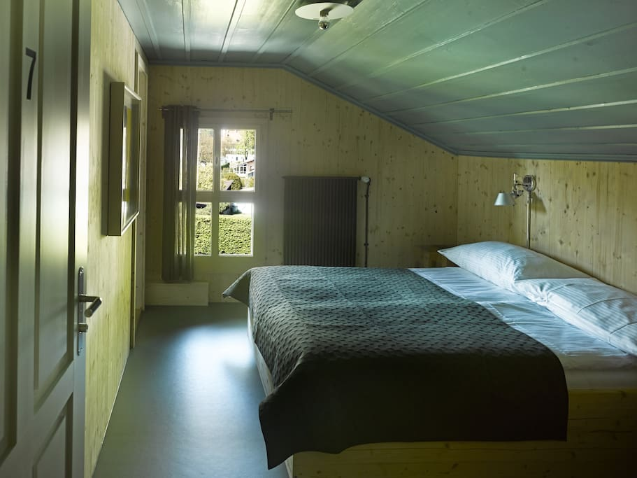 pretty double room with view of the Harder mountain