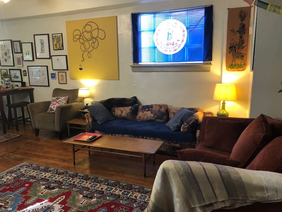 Living room/yoga area