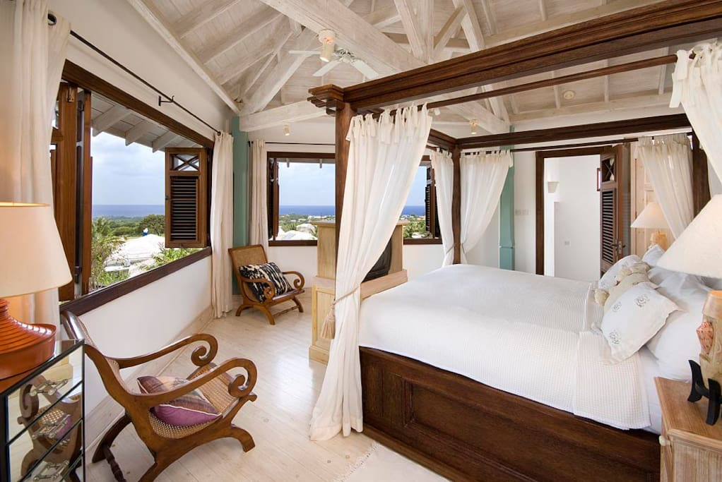 Master Bedroom with unobstructed view to ocean
