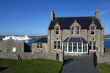 Grand home in stunning location. - Lerwick - Bed & Breakfast