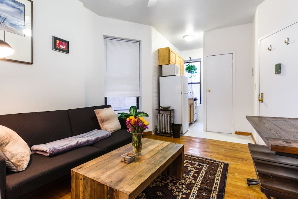 The space can easily accommodate 4 people.  It's perfect for 3 or a couple.