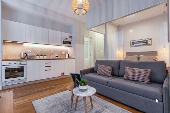 Upscale & Trendy flat in the Center