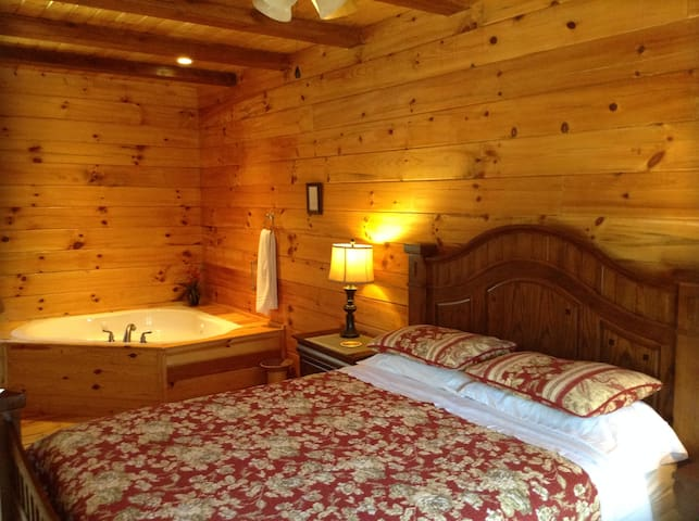 Chestnut Cabin. Romantic Jacuzzi Tub. Free Canoe. - Lake Lure - Cabaña