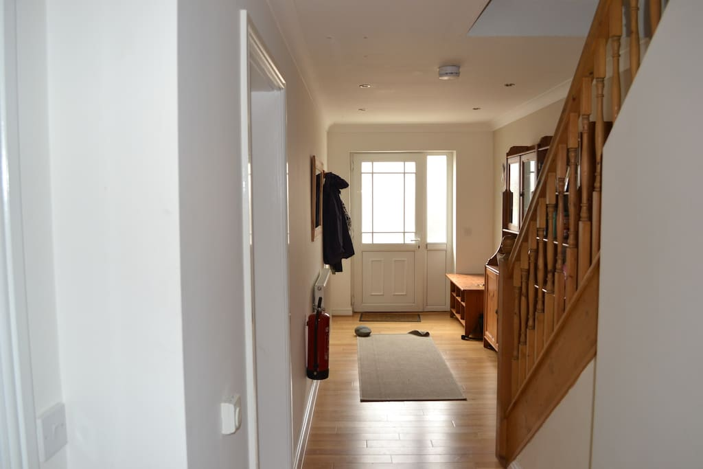 Hallway - leading to downstairs large utility room with dryer and washing machine