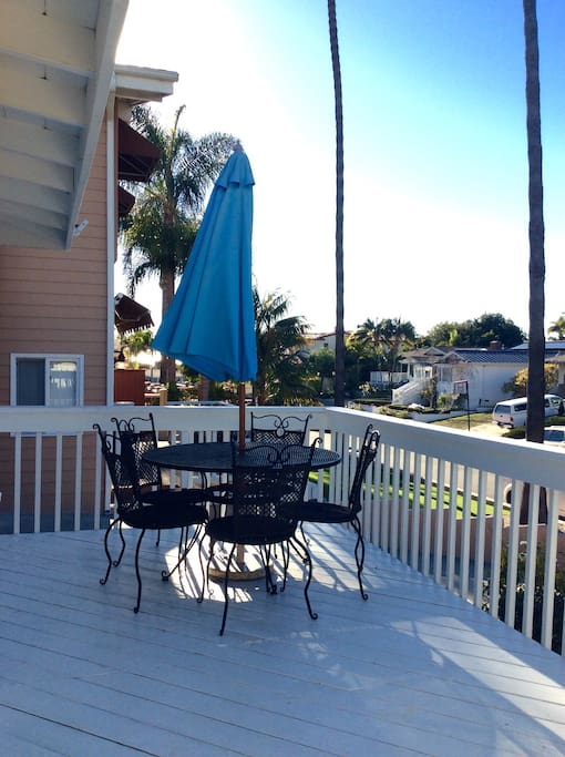 Front porch with peek views to the ocean