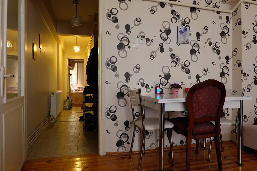 Dining area + Hall