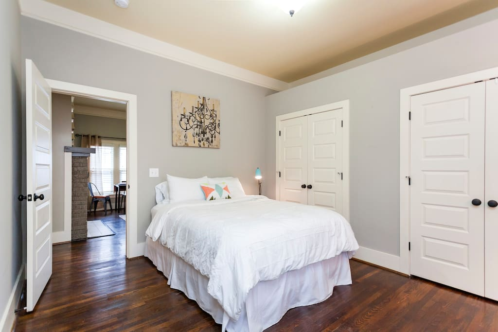 Master with Queen bed, 2 closets, and private bathroom.