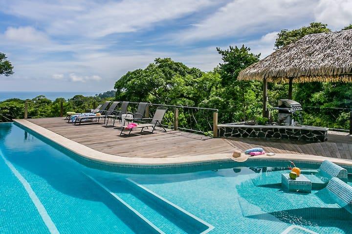 Private Jungle Villa w/Infinity Pool & Ocean Views