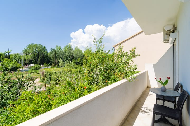 Apartments & Rooms Barišić - Studio Apartment with Balcony and Garden View (Second Floor)-APT 6