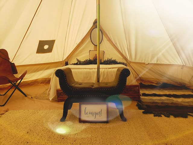 Glam-camping, hot showers under the stars