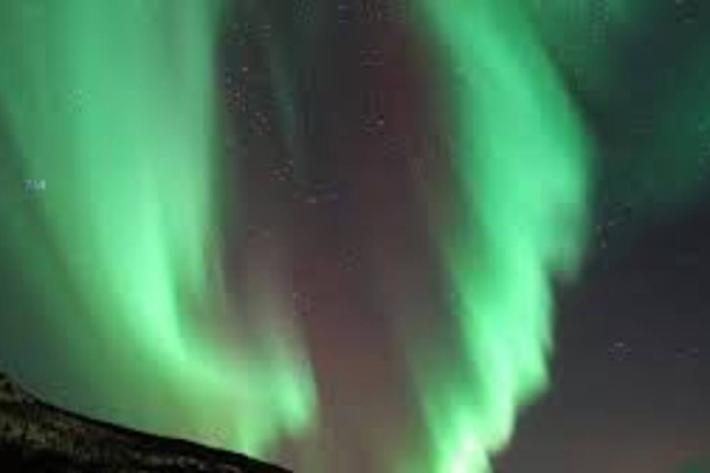 If you are lucky you may see the Northern Lights in the period from October to March.