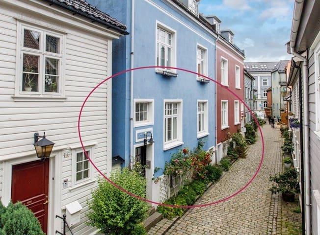 Rolig leilighet med uteplass, midt i sentrum