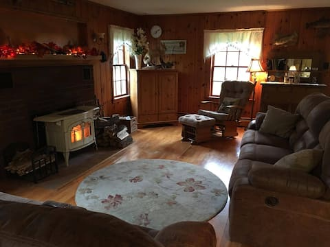 Cozy north woods home with spacious, private room.