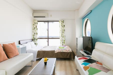 Nago★NearBeach1BR#3★Free Parking/WiFi/Kid★Aquarium - Apartment