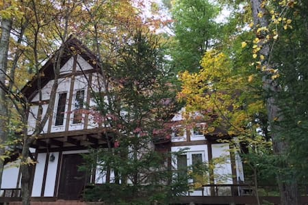 Genuine half-timbered cottage in the woods - Karuizawa - Hus