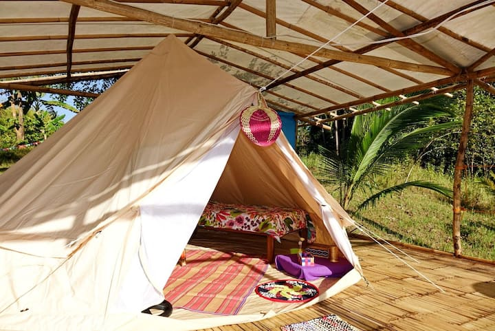 Kalikasan camp nagtabon Beach two singles bed