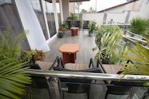 Private balcony sitting area