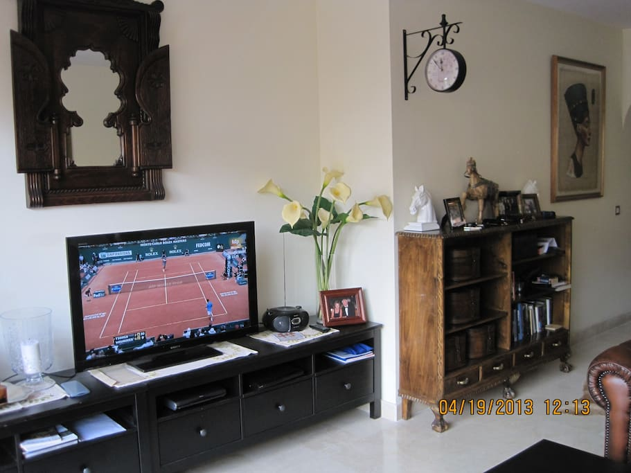 Living room with TV set