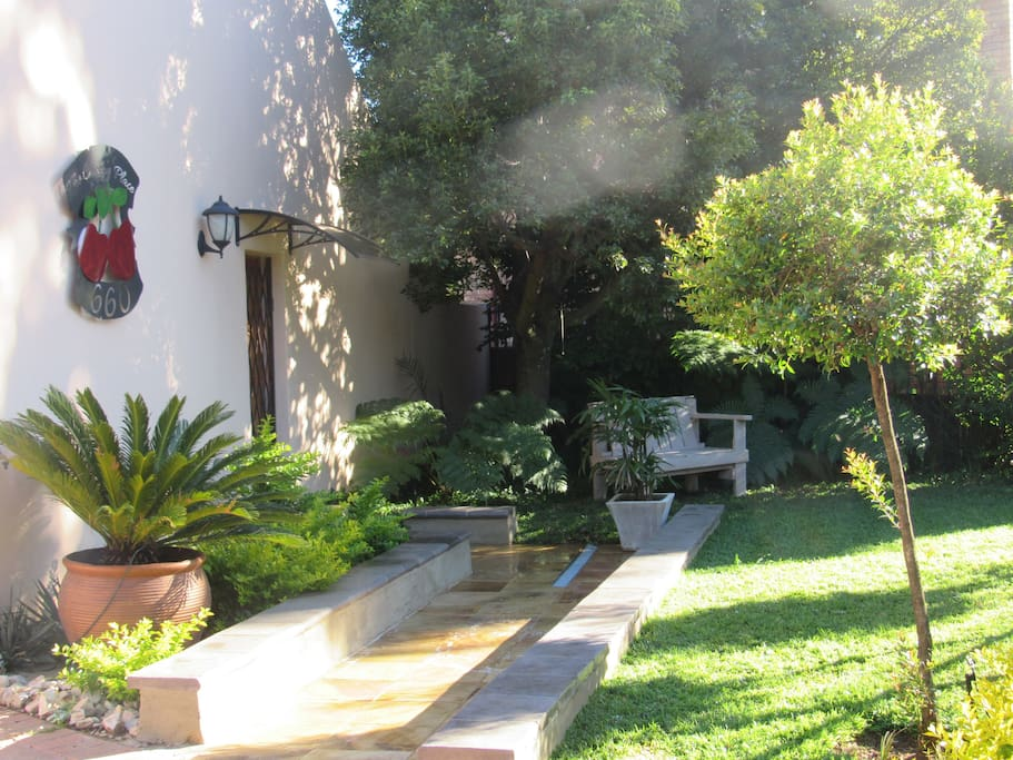 Beautiful private garden with your own private entrance