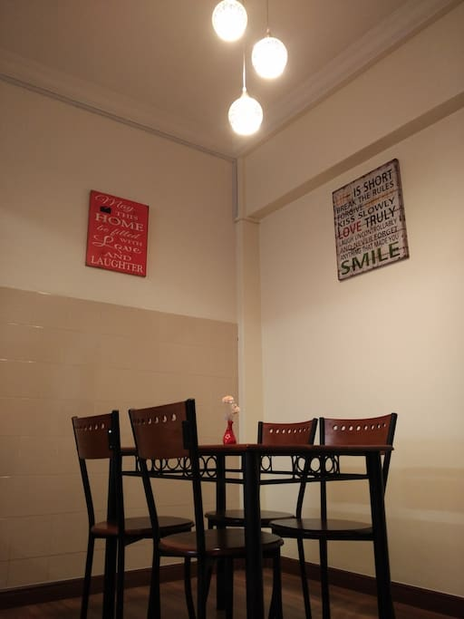 Dining Area with Quotes