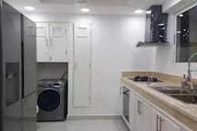 Complete equipment kitchen with wash and dry  machine