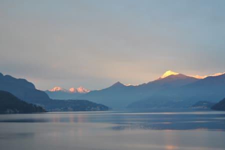 Orange Room magnificent view of Lake Como - Lezzeno