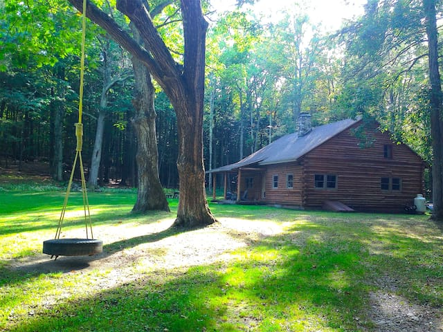 Catskills Secluded Log Cabin - Cornwallville - Stuga