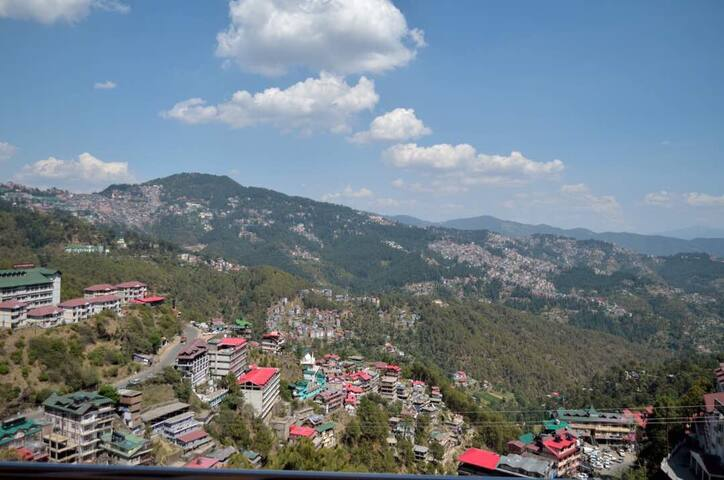 Shimla view room with attached bathroom