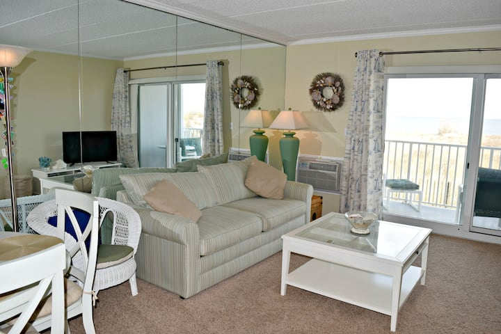 Ocean front living! 1 Bedroom right on the beach!