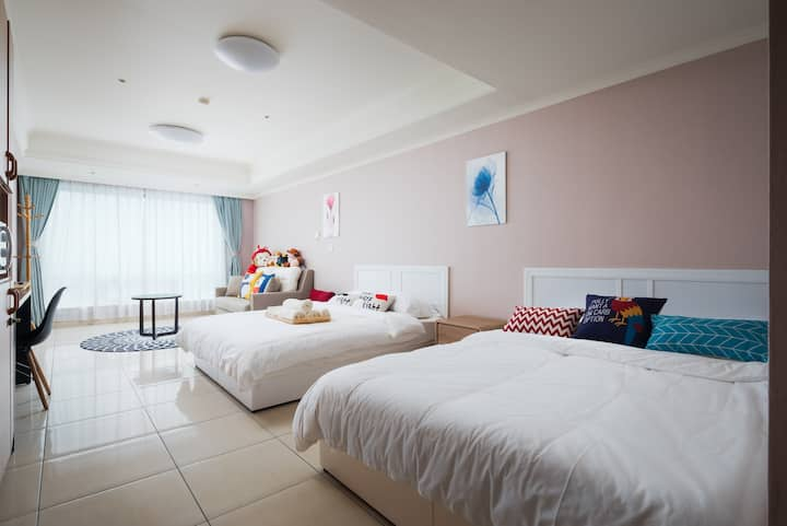 【新*NEW*】Taichung City Ctr, Clean & Comfy 寬敞乾淨交通便利