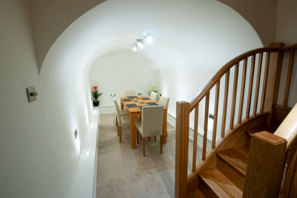 Downstairs into the vaults you will find a large dinning table